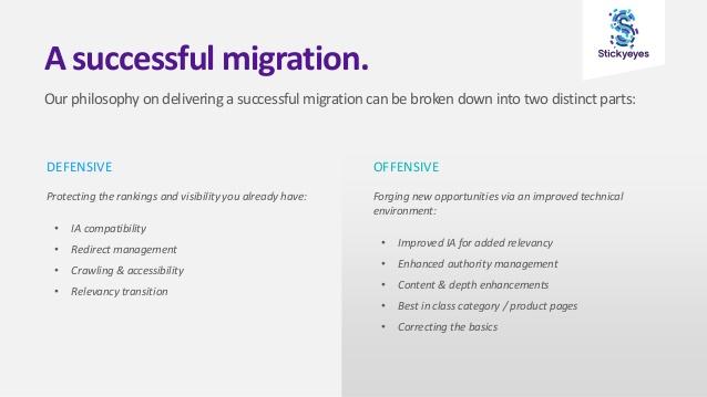 succesvolle migratie