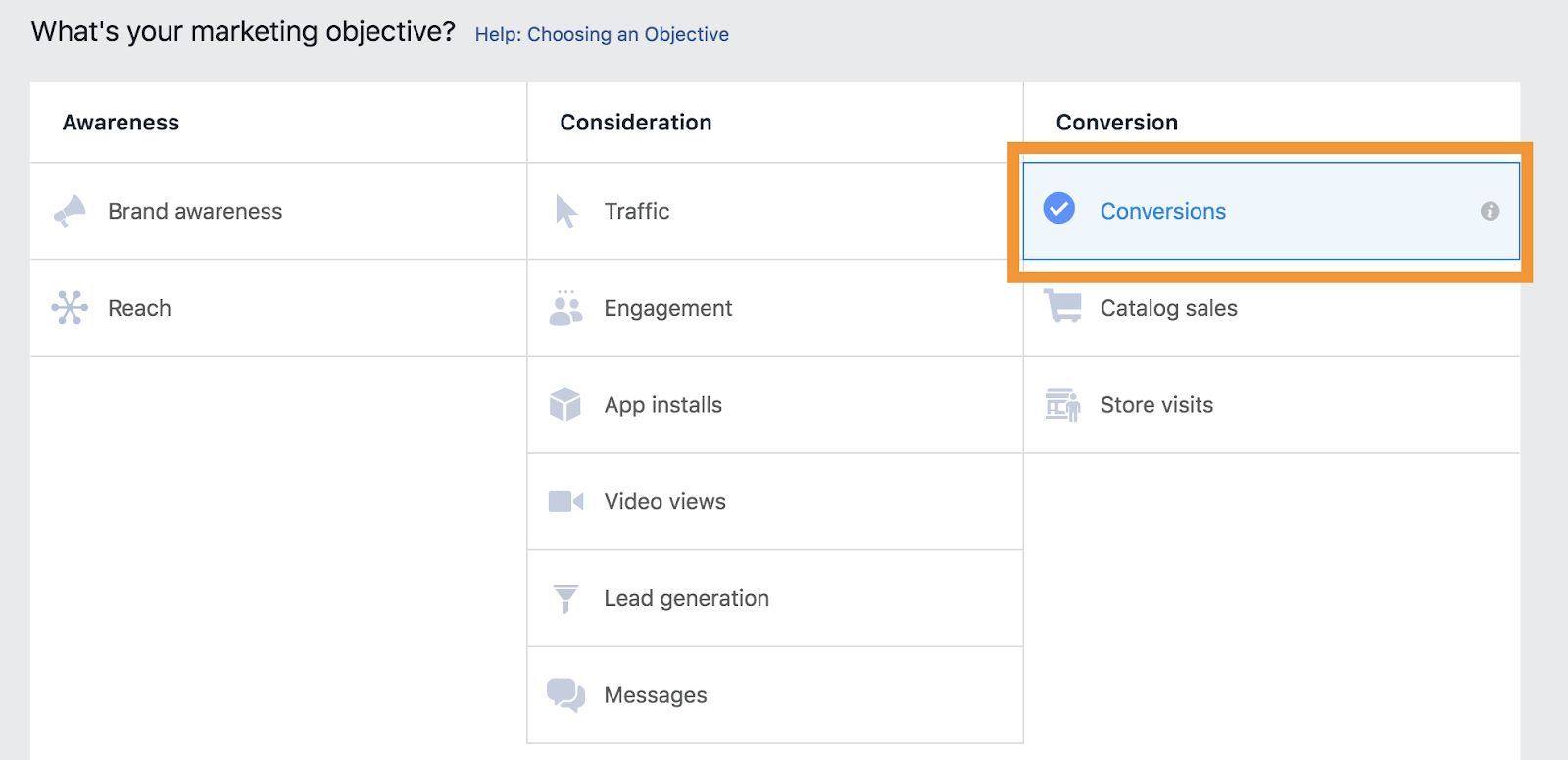 Facebook objectives